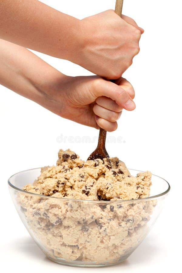 Préparation de la pâte de biscuit images libres de droits
