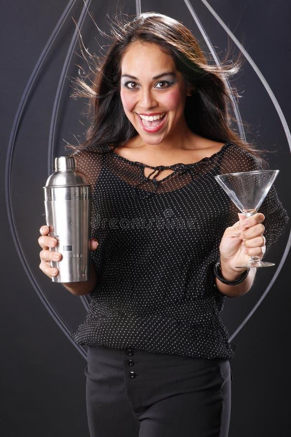 Préparation de Martini image libre de droits