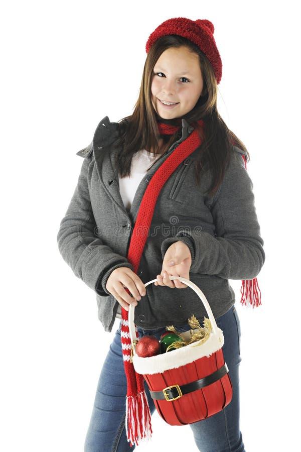 Préparation de Noël de Tween image libre de droits
