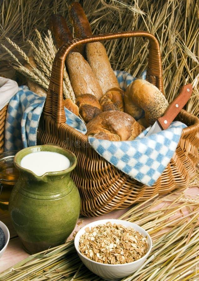 Préparation de pain image libre de droits