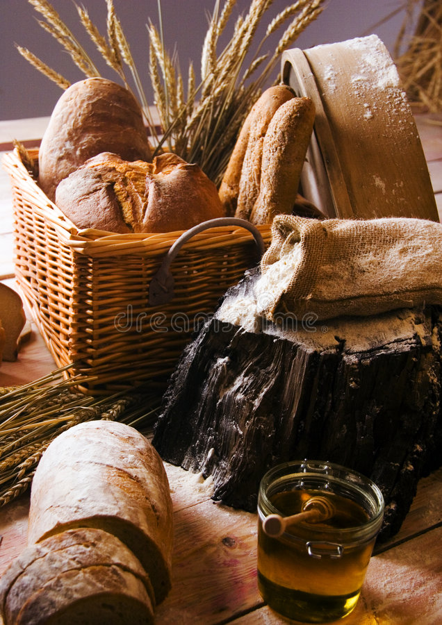 Préparation de pain photos libres de droits