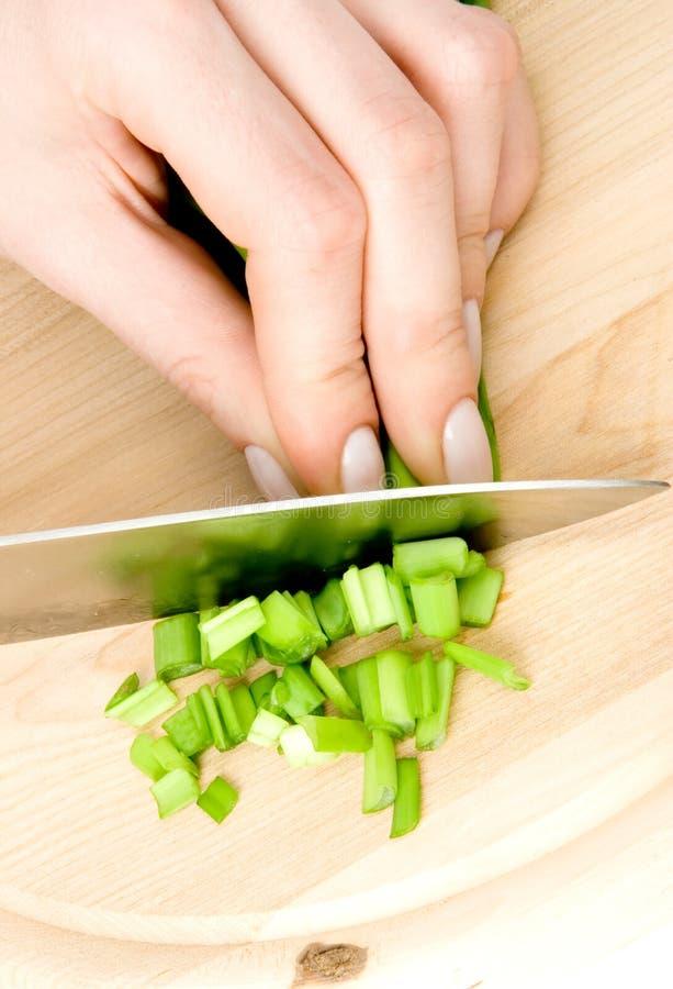 Préparation de salade photos libres de droits