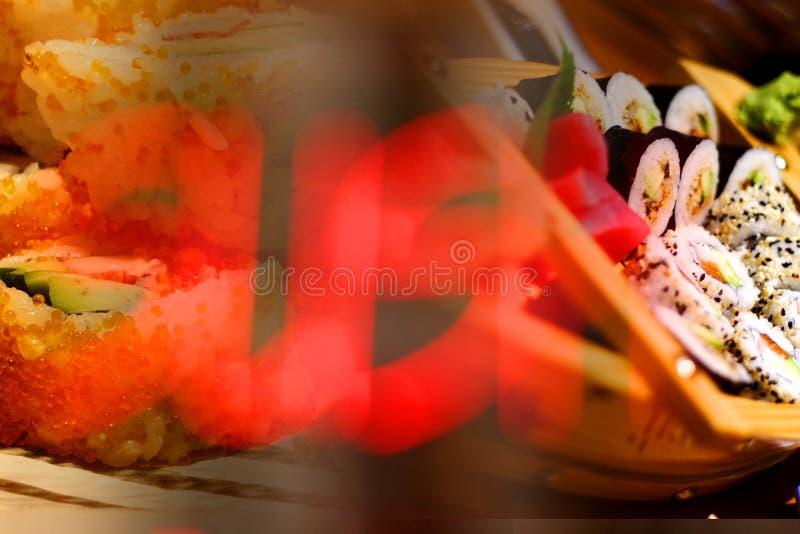 Préparation de sushi photo stock