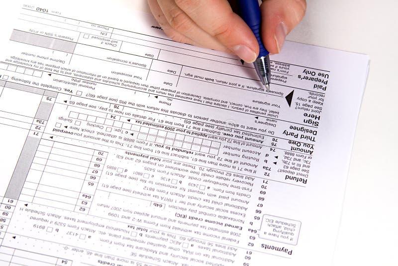 Préparation des impôts image libre de droits