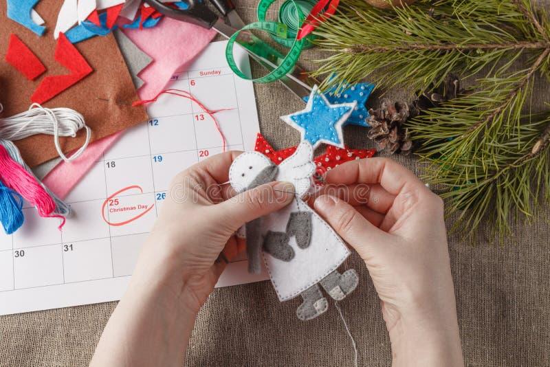 Préparation pour prochain Noël images stock