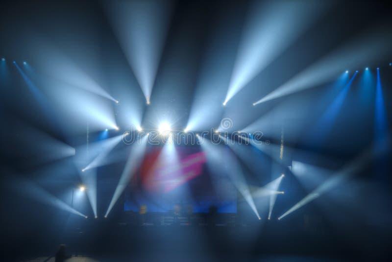 Préparation pour un concert photos libres de droits