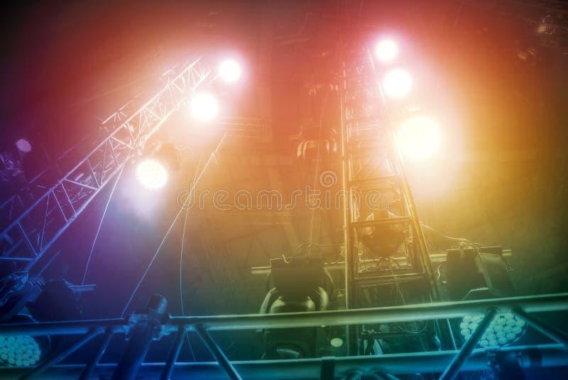 Préparation pour un concert photographie stock libre de droits
