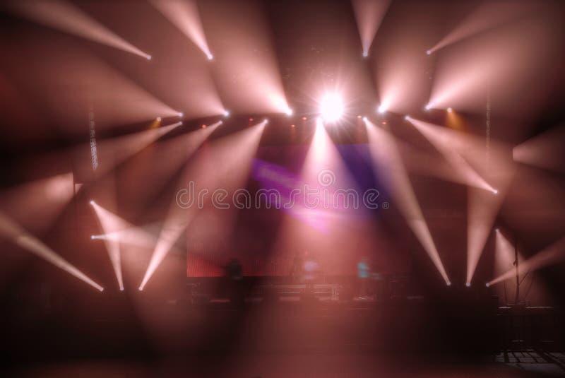 Préparation pour un concert images libres de droits