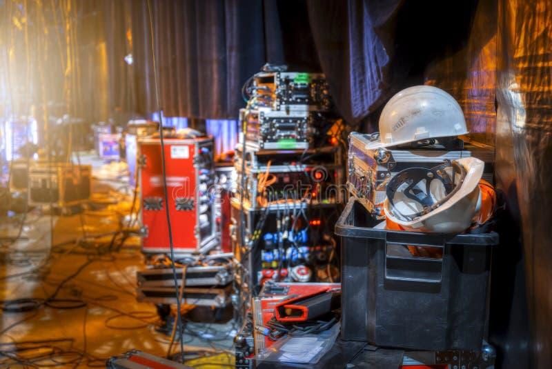 Préparation pour un concert photo stock
