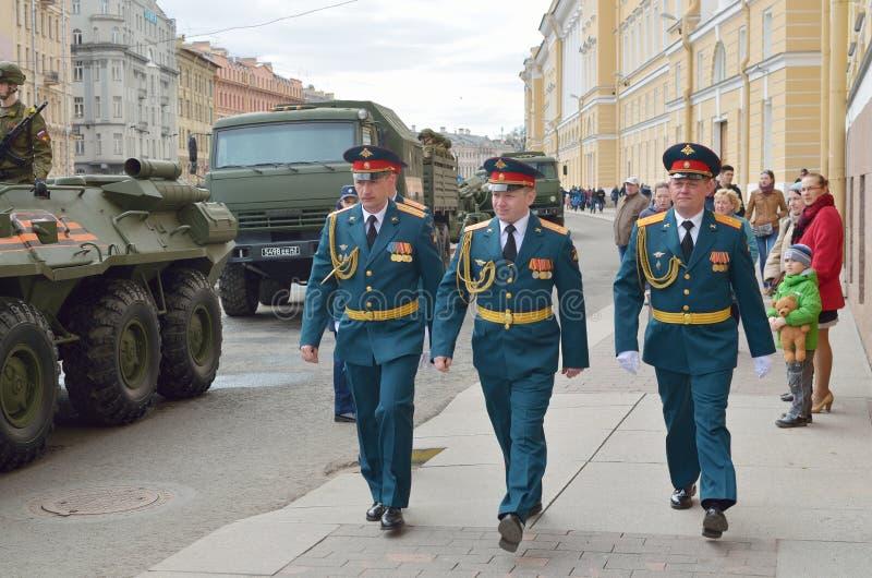 Préparation pour Victory Parade image libre de droits