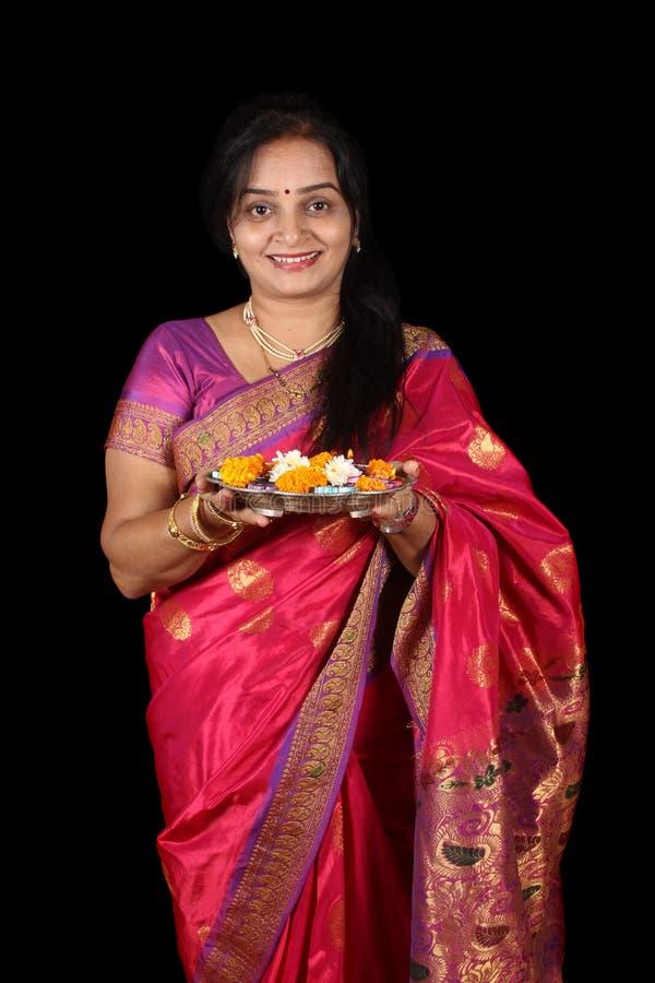 Préparation rituelle de Diwali image libre de droits