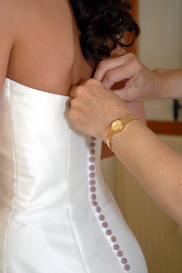 Préparations nuptiales photo libre de droits