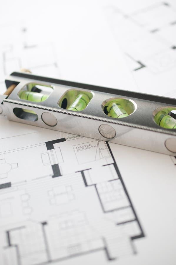 Prépare le floorplan architectural images libres de droits