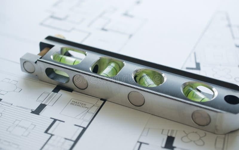 Prépare le floorplan architectural photo stock