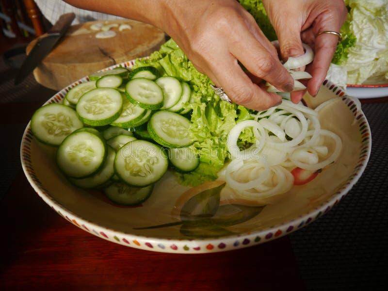 Préparez les légumes pour la cuisson thaïlandaise photographie stock libre de droits