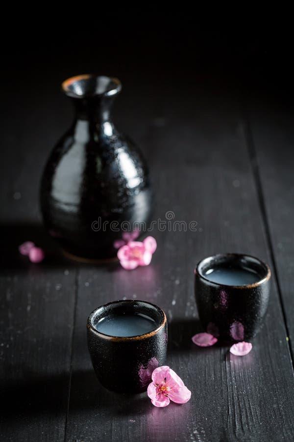 Préparez pour boire le saké photo stock