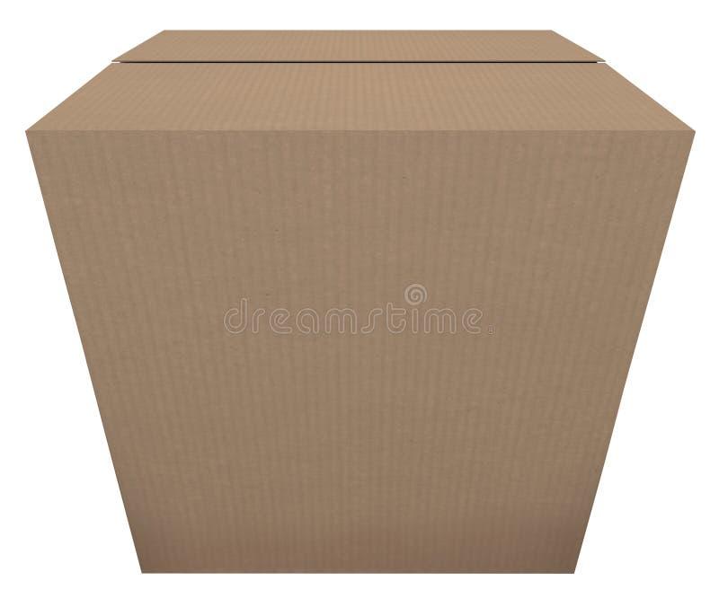 Préparez pour embarquer l'ordre de expédition de paquet de boîte en carton en stock illustration libre de droits