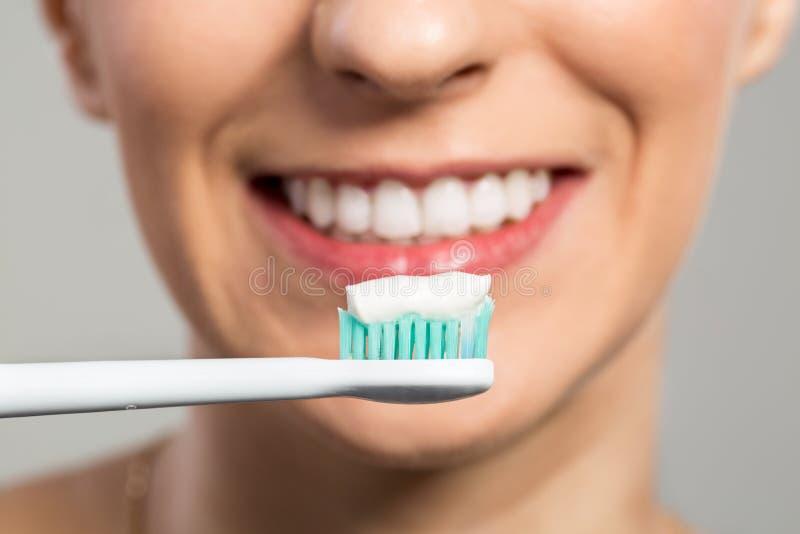 Préparez pour les dents clening photos libres de droits