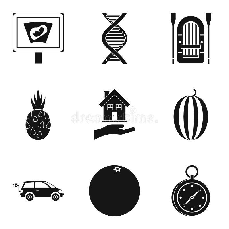 Préparez-vous aux icônes de grossesse réglées, style simple illustration libre de droits