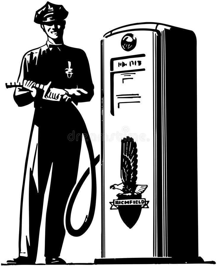 Préposé de pompe à gaz illustration libre de droits