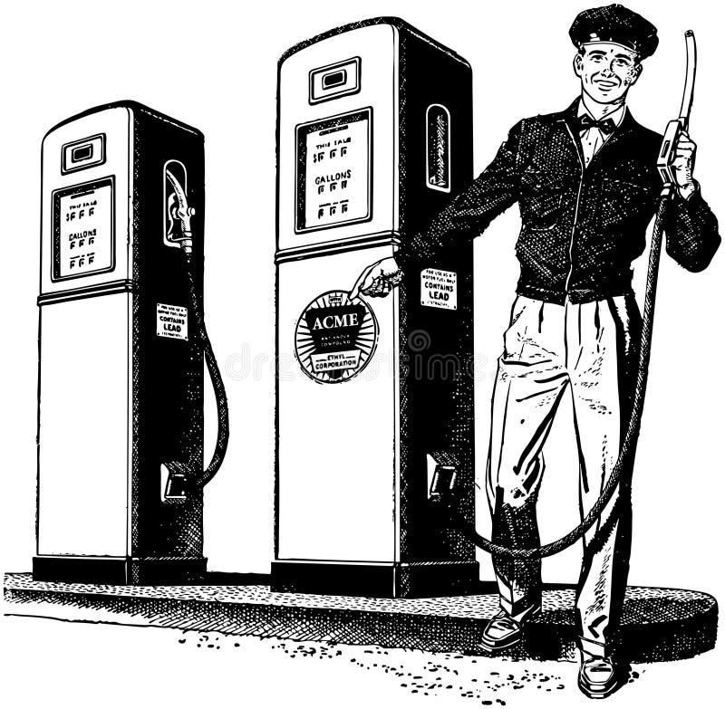 Préposé 2 de station service illustration libre de droits