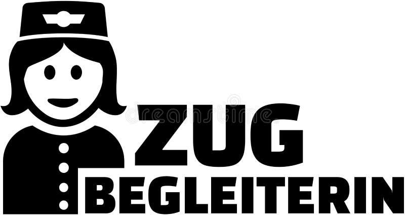 Préposé de train avec la fonction allemande illustration libre de droits