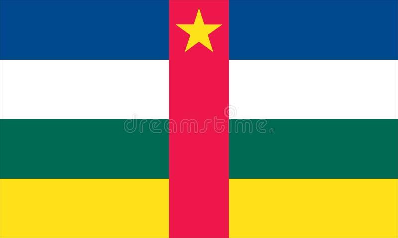 préposé du service africain de central illustration libre de droits