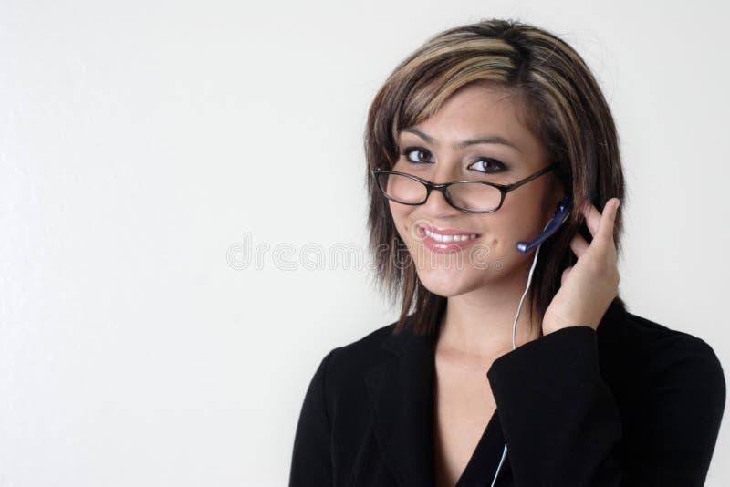 Préposé du service de service à la clientèle/centre d'attention téléphonique photos stock