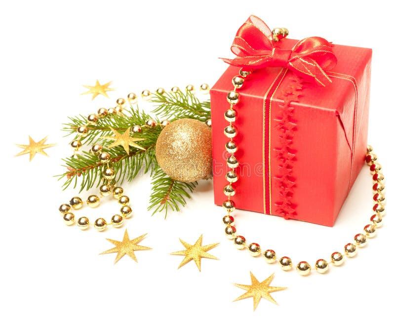 Présent décoré de Noël photo libre de droits