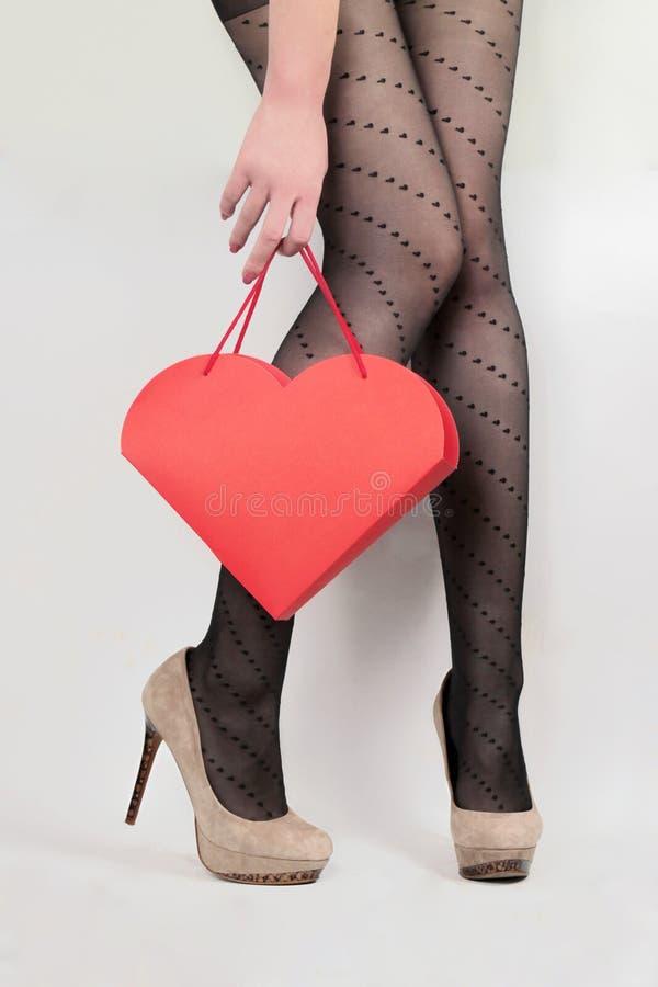 Présent du jour de Valentine photographie stock libre de droits