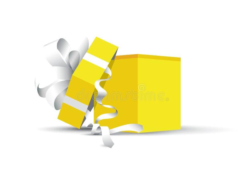 Présent enveloppé par jaune illustration libre de droits