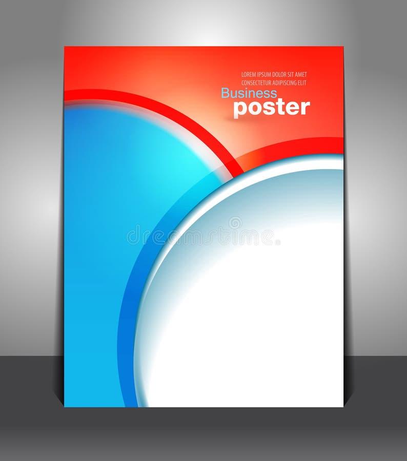 Présentation élégante d'affiche d'affaires illustration stock