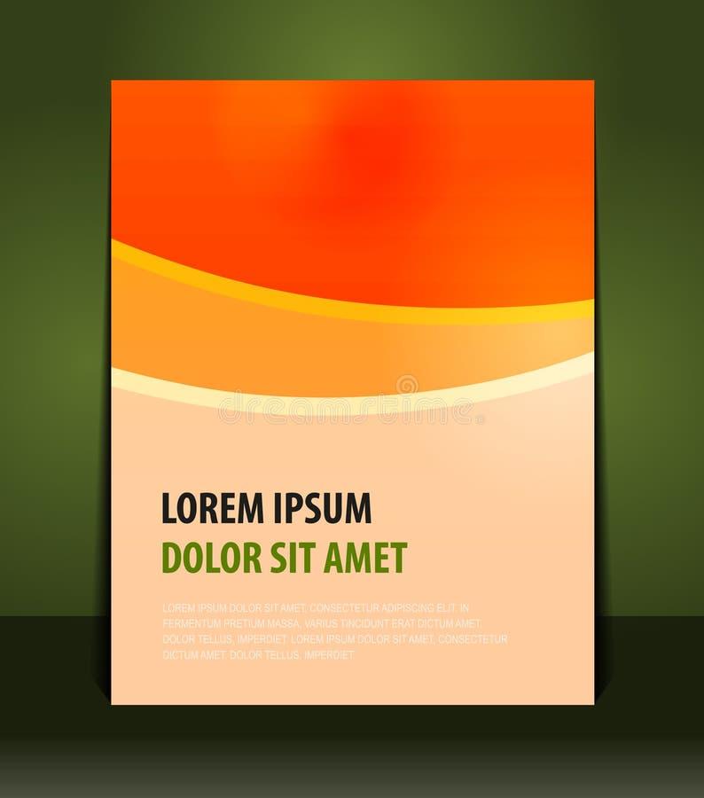Présentation élégante d'affiche d'orange d'affaires illustration libre de droits