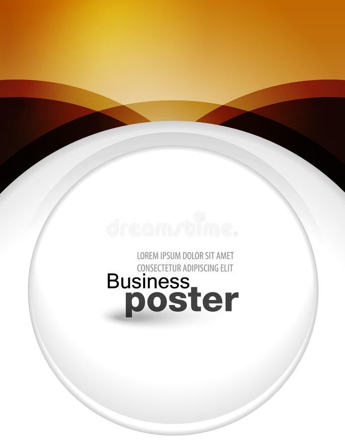 Présentation élégante et concepteur d'affiche d'affaires illustration libre de droits
