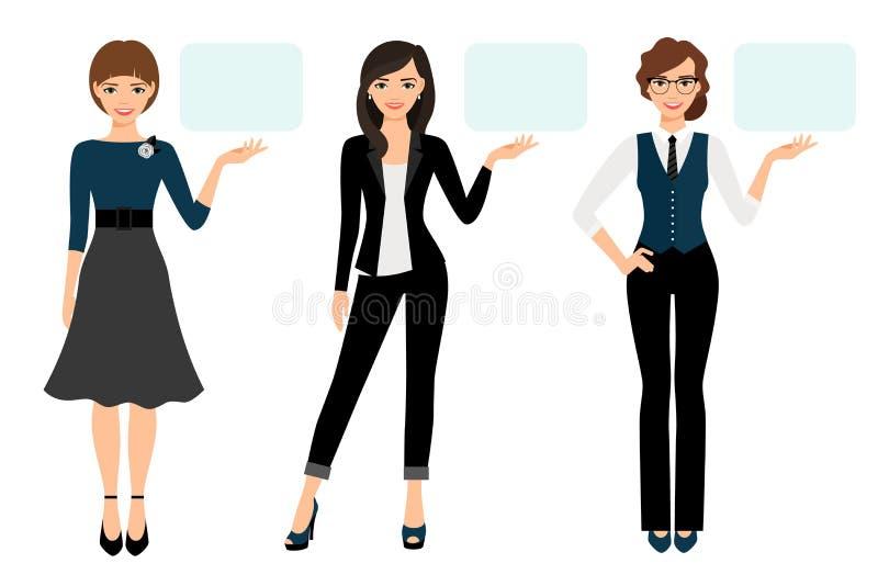 Présentation d'affaires de femme adulte illustration de vecteur