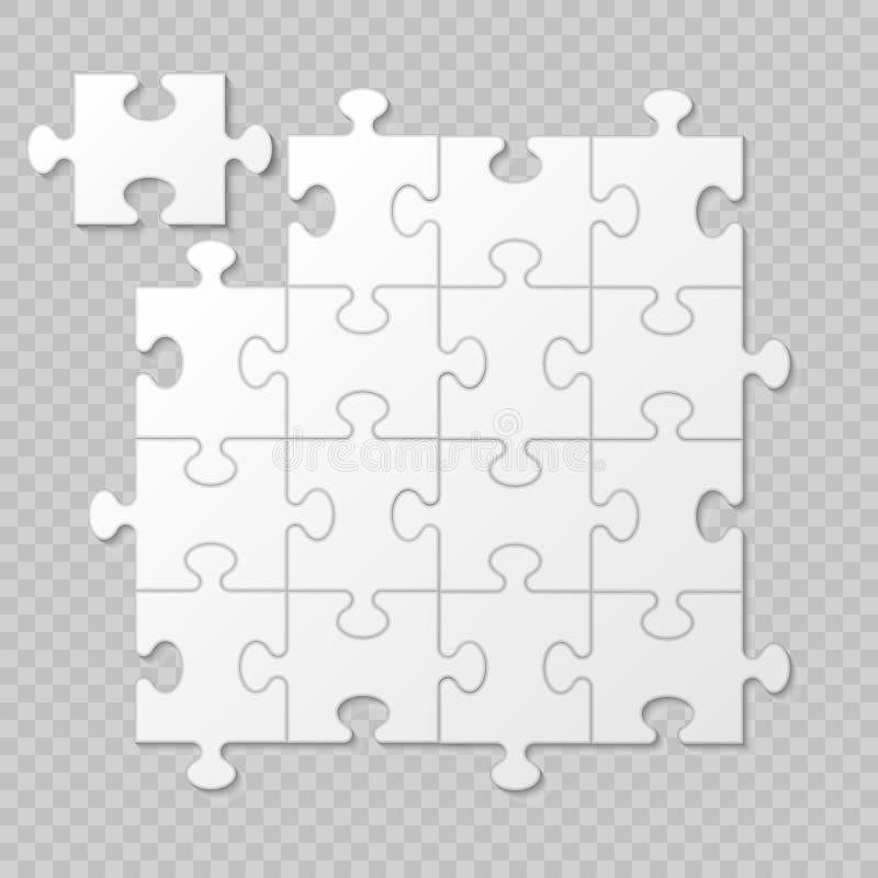 Présentation d'affaires de morceau de puzzle illustration de vecteur