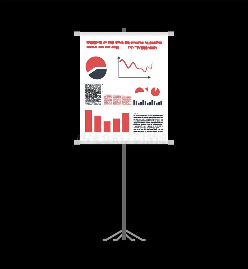 Présentation d'affaires sur la cigarette roulée descripteur Diagrammes et diagrammes illustration de vecteur