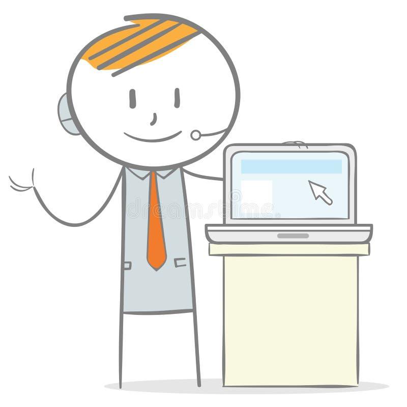 Présentation d'ordinateur portable illustration stock