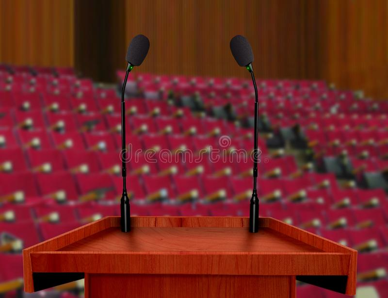 Présentation de conférence dans le hall de conférence image stock