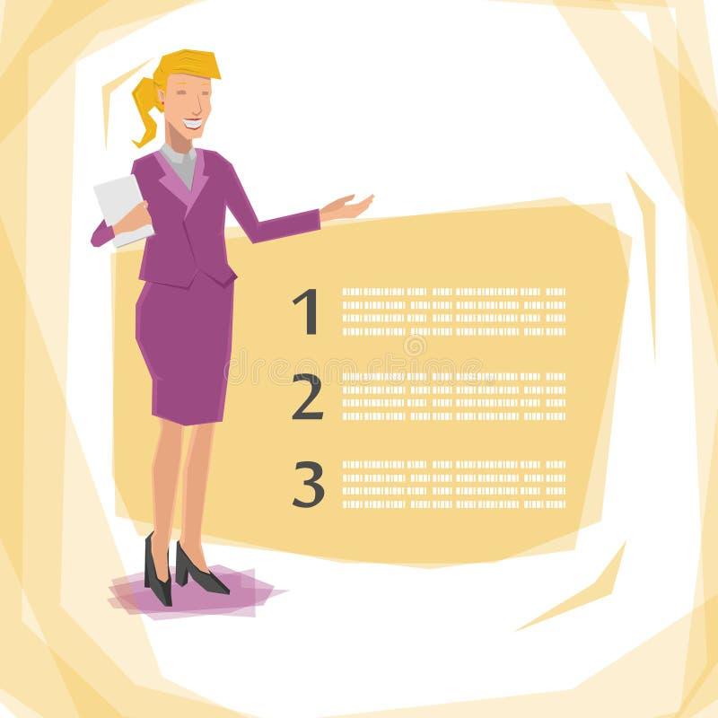 Présentation de femme de travailleur illustration libre de droits