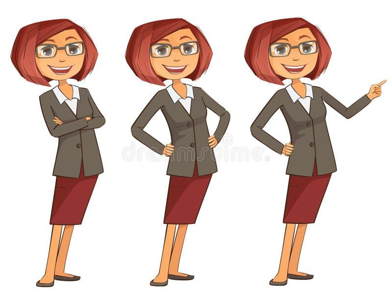 Présentation de fille d'affaires illustration stock