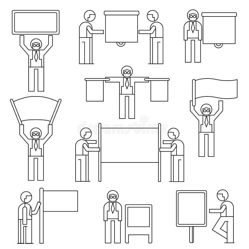 Présentation de personnes illustration libre de droits