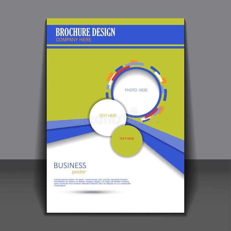 Présentation de vecteur d'affiche d'affaires illustration de vecteur