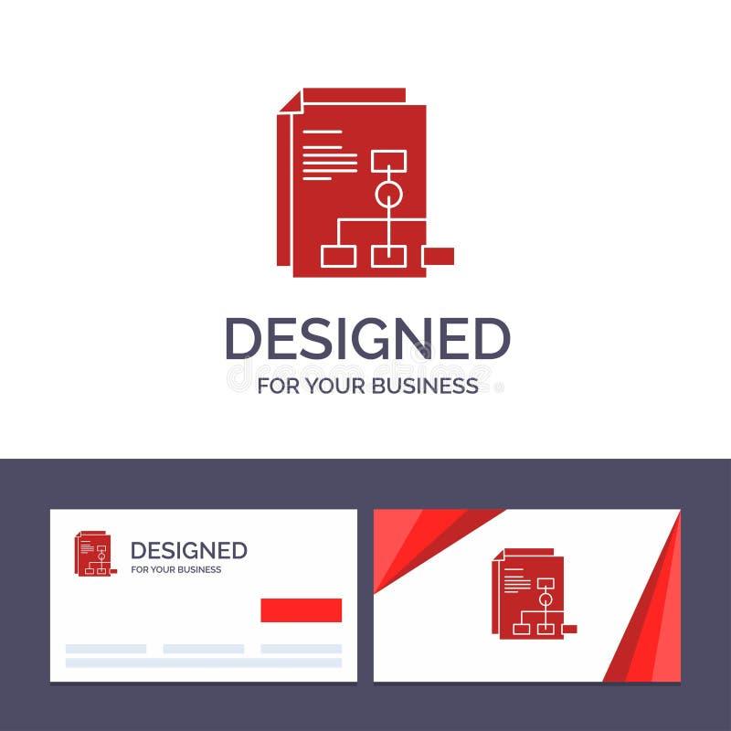 Présentation de visite de calibre créatif de carte de visite professionnelle et de logo, graphique, facture, illustration de vect illustration de vecteur