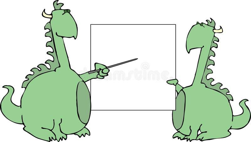 Présentation des dragons illustration libre de droits