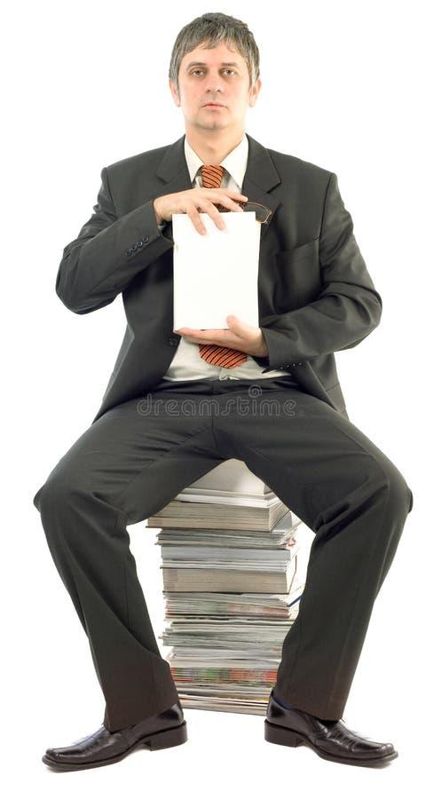 Présentation du livre blanc vide photo stock