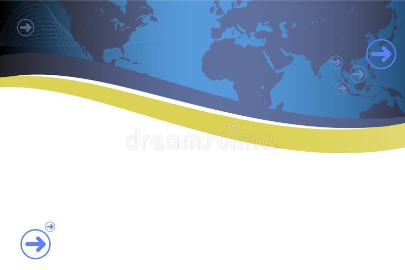 présentation moderne de carte rétro illustration stock