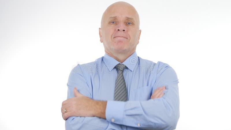 Présentation sûre d'Image Company Interview d'homme d'affaires photographie stock