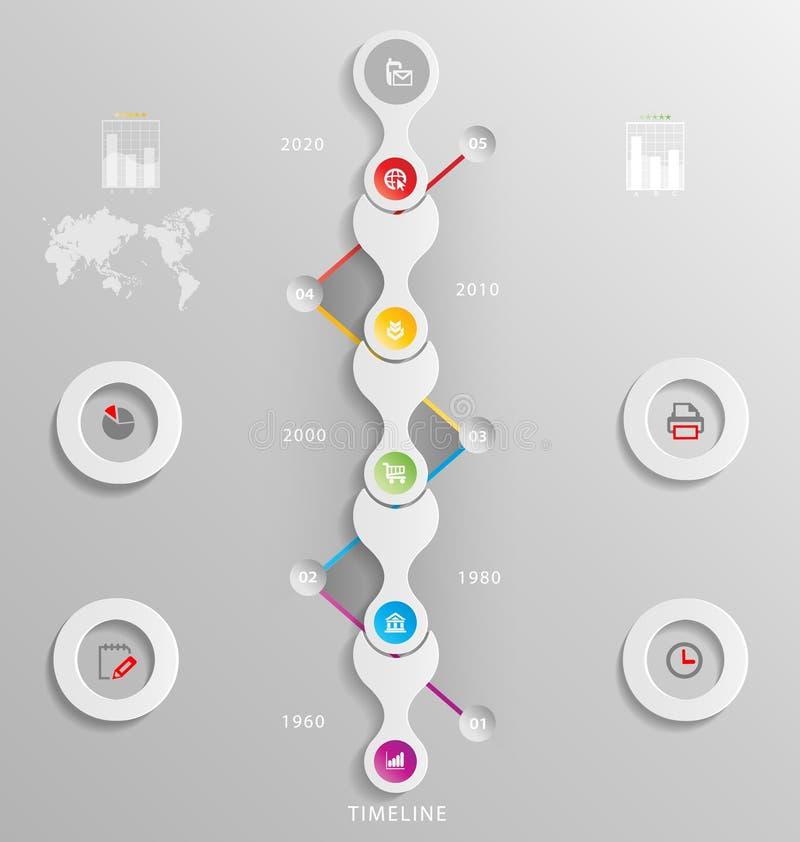 Présentation stylisée d'infographics, calibre d'option illustration de vecteur
