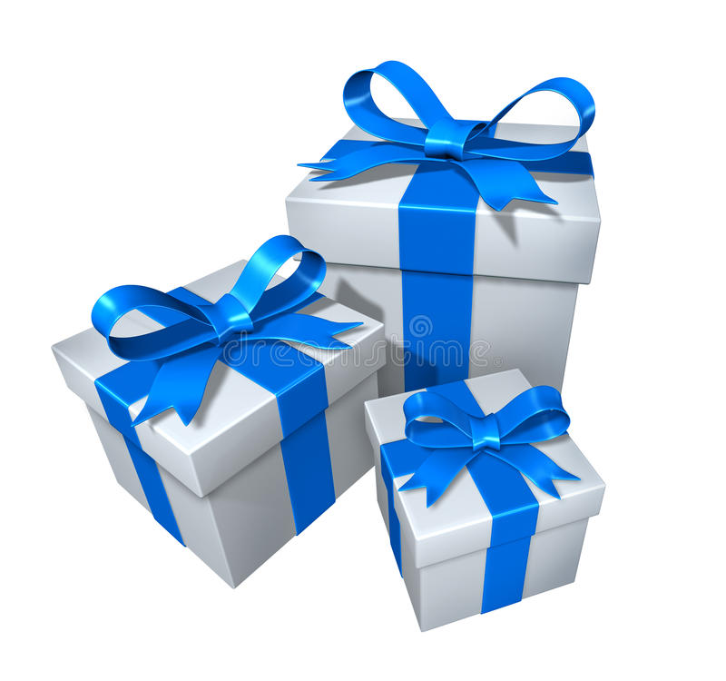 Présents de cadeau illustration de vecteur